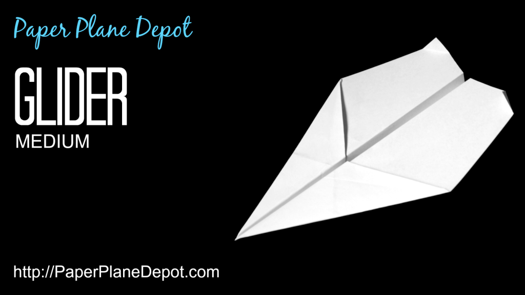Paper airplane instructions for a glider (medium difficulty) via http://PaperPlaneDepot.com