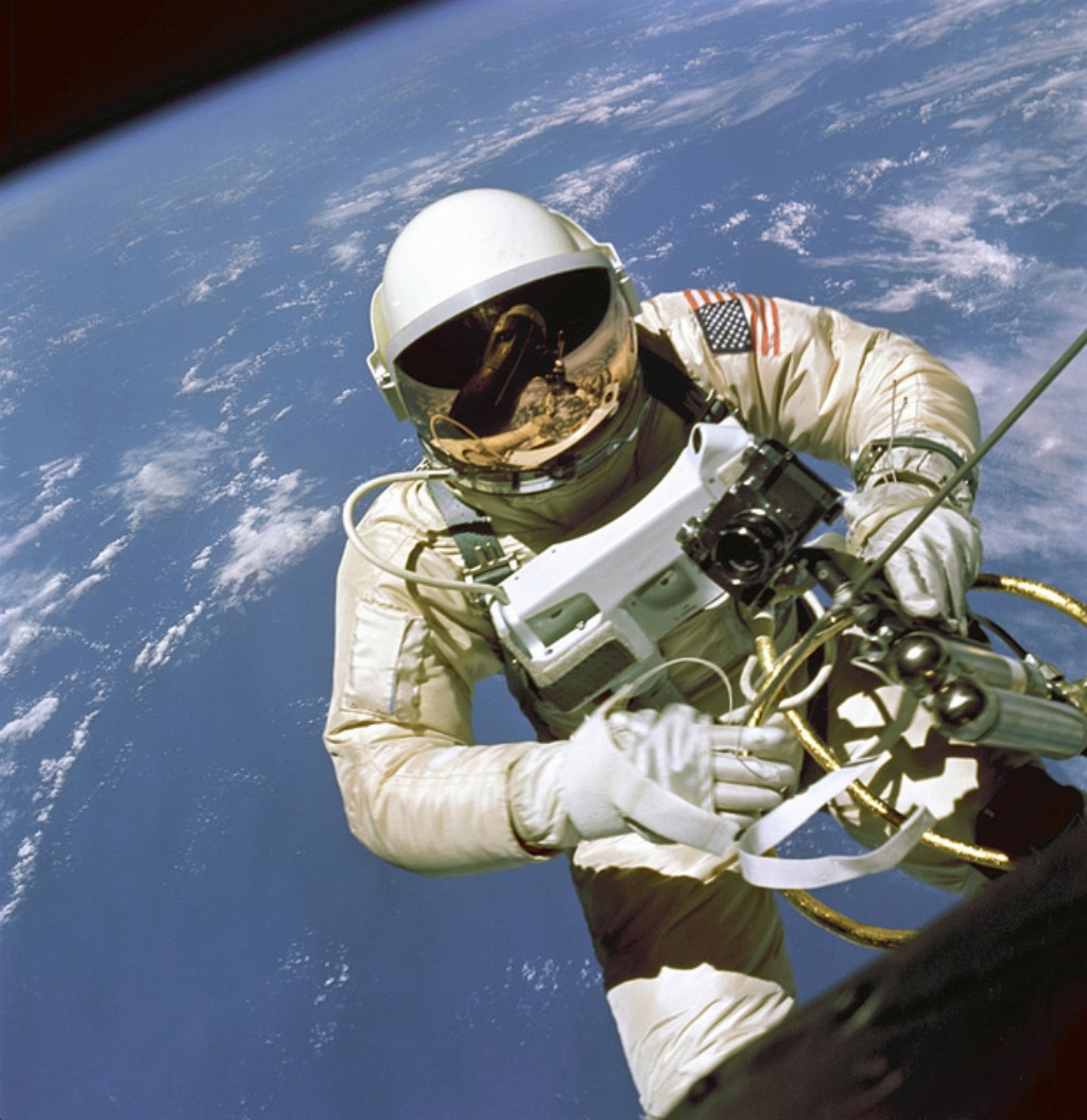 First American to walk in space - On June 3, 1965 Edward H. White II became the first American to step outside his spacecraft and let go - via NASA on The Commons