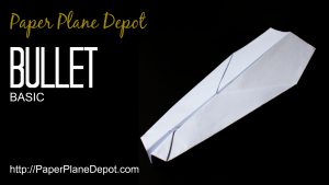 How to make a paper plane (the Bullet plane) via http://PaperPlaneDepot.com
