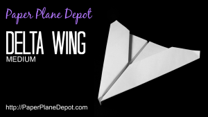 How to make a paper airplane - the Delta Wing. Easy to follow instructions for kids via http://PaperPlaneDepot.com