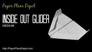 How to make a paper airplane - an Inside-Out Glider! Instructions, videos, tips and more at the kid-friendly http://PaperPlaneDepot.com