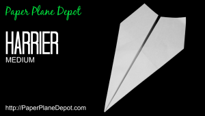 How to make a paper airplane - the awesome Harrier. Kid-friendly tutorials at http://PaperPlaneDepot.com