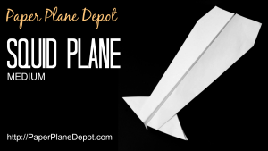 How to make a paper airplane - the cool squid plane! Kid-friendly instructions at http://PaperPlaneDepot.com