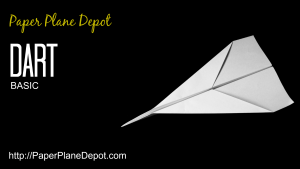 How to make a classic dart airplane via http://PaperPlaneDepot.com